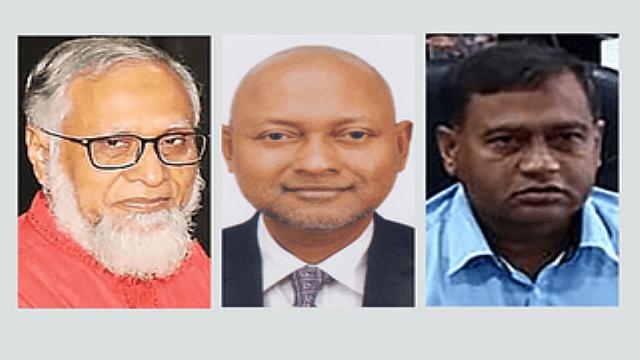 (বাঁ থেকে) এম আবদুস সোবহান, নাজমুল আহসান কলিমুল্লাহ ও খোন্দকার নাসির উদ্দিন